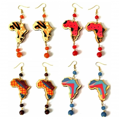 africa pattern beads earrings rebel jewel rebeljewel