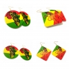 rasta lion leaf africa rastafari earrings rebeljewel