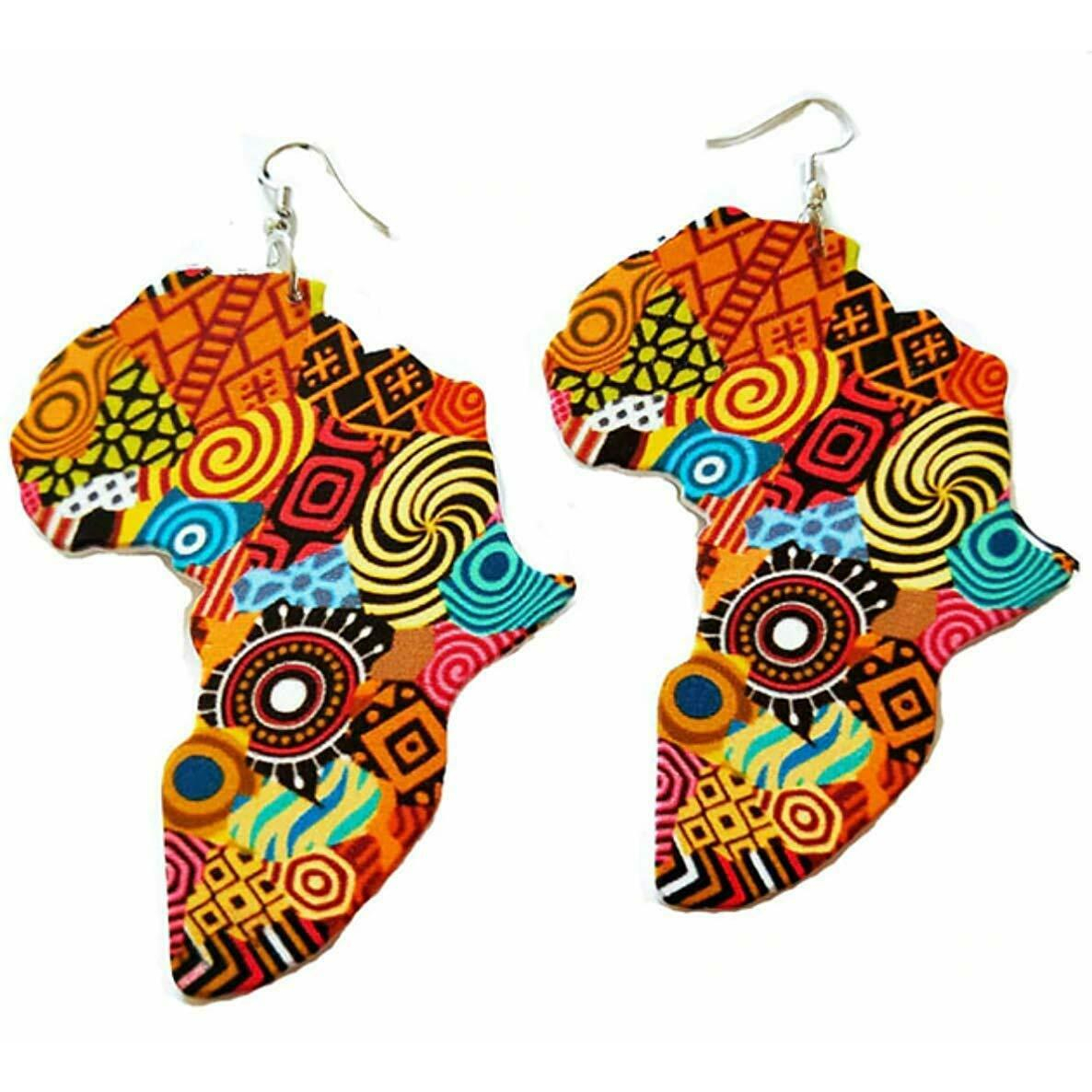 Africa & Ankh Drop Earrings RebelJewel