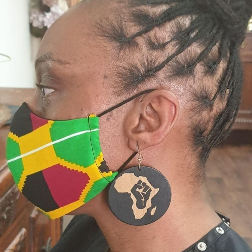 brendaladylee fist up black brown africa map round drop wood earrings rebeljewel missrebeljewel (1)