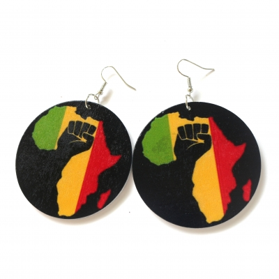 fist up power rasta africa black earrings rebeljewel rebel jewel (6)