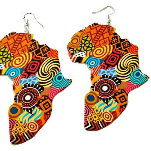patterned africa earrings