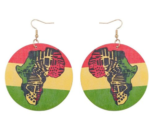 Rasta Wood Africa Earrings