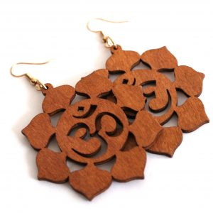 brown oum earrings