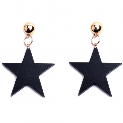 Black star statement earrings jewellery rebeljewel rebel jewel