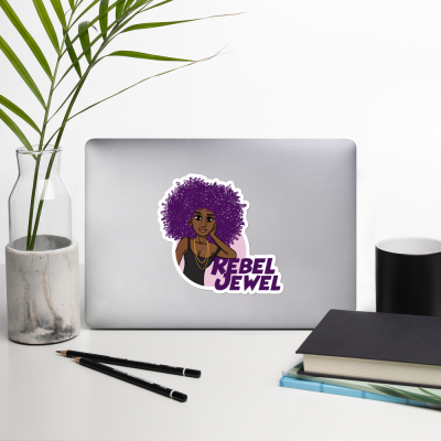 Rebel Jewel vinyl bubble free laptop stickers