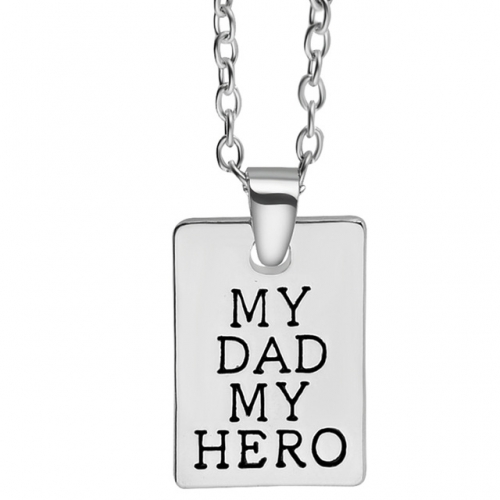 my dad my hero silver chain necklace father rebeljewel rebel jewel
