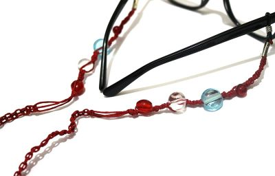 Rebel Jewel Handmade Macrame Red Glasses Cord Beads RebelJewel Amazon