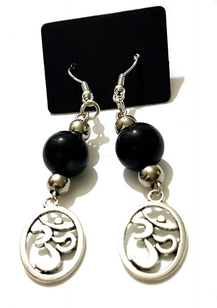 Rebel Jewel Handmade Om Oum Charm Drop Earrings RebelJewel Amazon