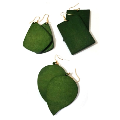 green wood earrings rebeljewel rebel jewel
