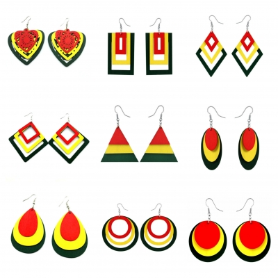rasta ghana earrings rebeljewel rebel jewel