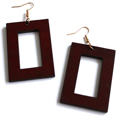 red maroon wood earrings rebel jewel rebeljewel (3)