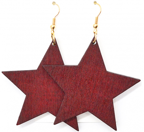 red star earrings rebeljewel rebel jewel