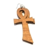wood ankh key of life earrings egyptian wooden jewellery rebeljewel rebel jewel