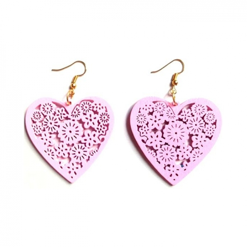 wood heart drop earrings. wooden dangle jewelry rebel jewel jewellery fashion (3)