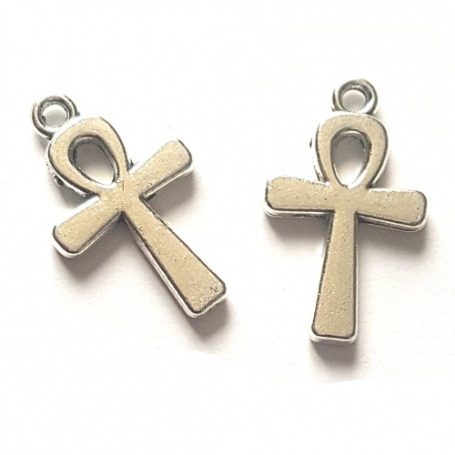 ankh connector silver charms rebeljewel rebel jewel pendants