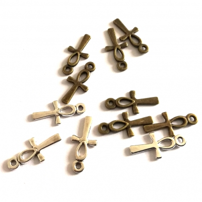 ankh cross egyptian charms bronze silver rebeljewel rebel jewel