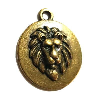 bronze lion head charms rebeljewel rebel jewel