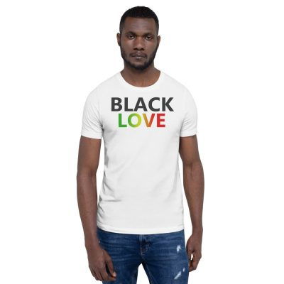 Rasta Black Love T-Shirt Tee Shirt