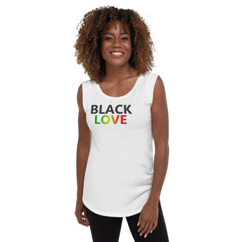 black love rasta white cap sleeve top