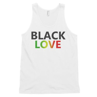 Black Love With Rasta Colours Design Tank Top