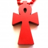 wood red ankh cross necklace rebeljewel rebel jewel