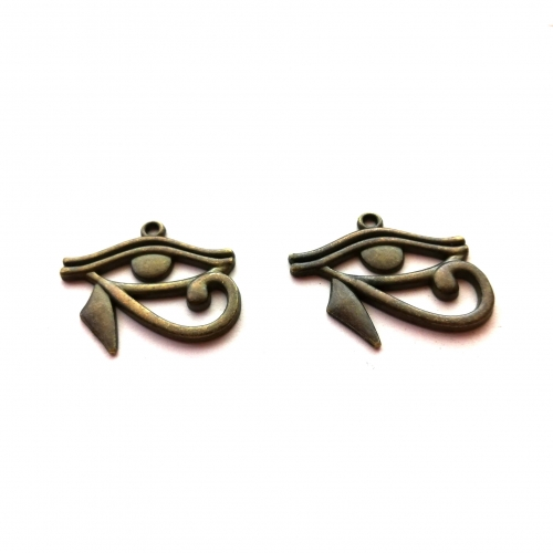 dark bronze eye of horus charms pendants rebeljewel rebel jewel