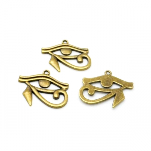 eye of hrous bronze charms rebeljewel