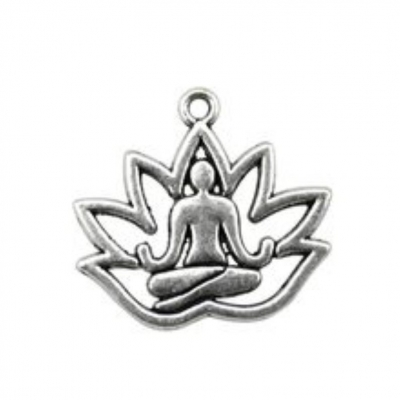 lotus flower charms pendants silver rebeljewel