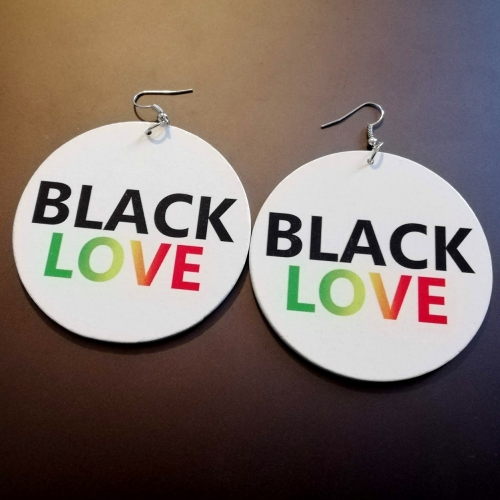 rasta black love original designs rebeljewel white round earrings rebel jewel