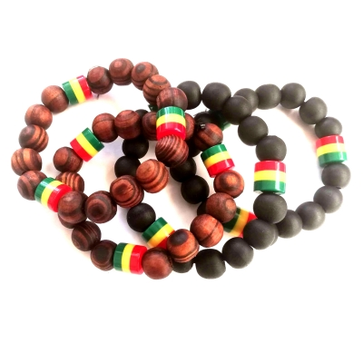 rebeljewel rebel jewel rasta beads stretch rasta bracelet