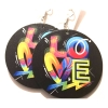 round graffiti love earrings rebeljewel missrebeljewel jewellery