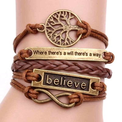 tree of life charm leather bracelet men women unisex rebeljewel rebel jewel
