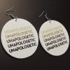 unapologetic unapologetically black shades round drop earrings rebeljewel rebel jewel missrebeljewel