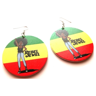 rasta love rebel jewel wood dangle earrings jewellery women (3)