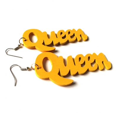 yellow queen wood earrings rebel jewel (1)