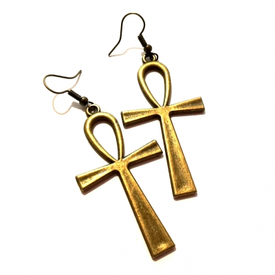 bronze silver ankh cross earrings rebeljewel missrebel missrebeljewel jewellery jewelry (1)