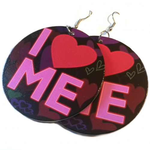 i love me wood earrings wooden jewellery rebel jewel rebeljewel (1)