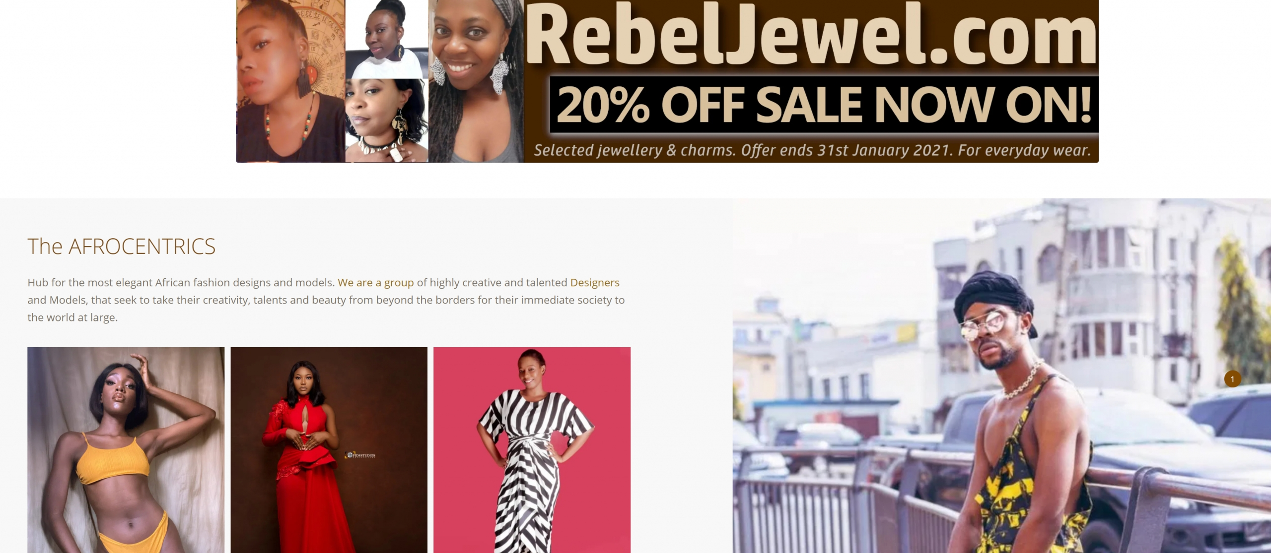 the afrocentrics african global fashion hub rebel jewel rebeljewel banner