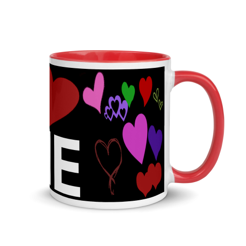 I LOVE ME Mug - Available in different colours.