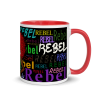 Original Design Rebel Jewel Mug with Colour inside. Perfect for your cup of tea on cold winter nights cup