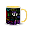Original Design Rebel Jewel Mug with Colour inside. Perfect for your cup of tea on cold winter nights.