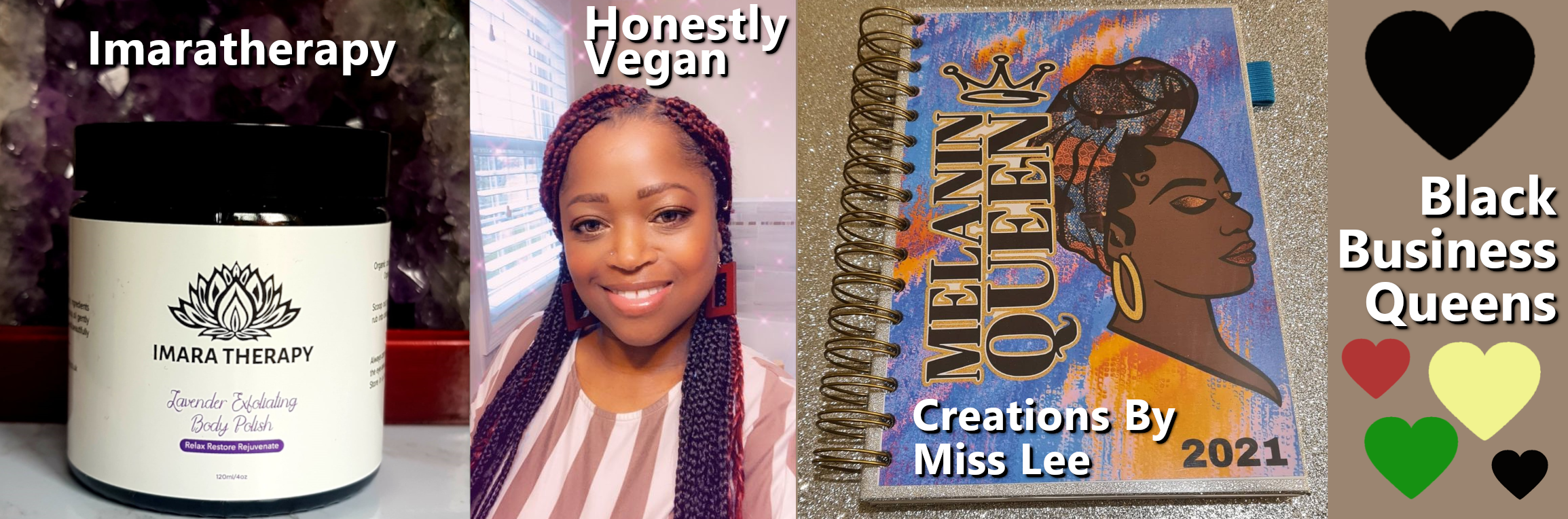 imaratherapy honestly vegan creations by miss lee melanin que chef writer aromatherapy black business queens rebeljewel missrebeljewel rebel jewel history month 2021